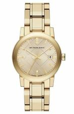 NEW Burberry BU9134  Light Champagne Dial Gold-tone Woman's Watch