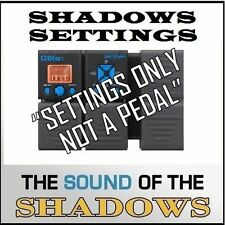 "Zoom G1XON ART D'ECHO that Shadows 60s Echo Sound (settings only) ""NOT A PEDAL"""