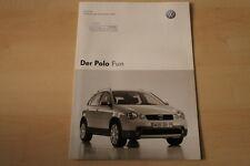 69390) VW Polo 9N Fun - Preise & Extras - Prospekt 12/2003