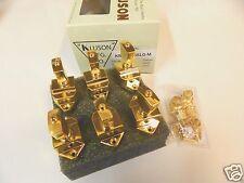 KLUSON FIREBIRD KBT-9006SLG/M 6 INLINE TUNERS W/ KEYSTONE BUTTONS GOLD GIBSON