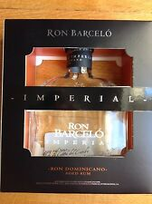 RON BARCELO IMPERIAL RUM EMPTY BOTTLE 700ml with presentation box
