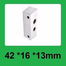 Metal Silver Aluminum Block 42mm*16mm*13mm for Nozzle Throat Tube fixed Makerbot