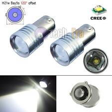 2pcs High Power 5W Xenon White 120° Bay9s H21W 64136 CREE XB-D LED Lights Bulbs