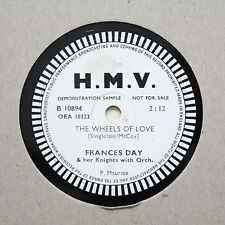 "FRANCES DAY ""The Wheels Of Love"" HMV Demonstration Sample B-10894 [78]"