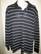 Nicklaus Performance Black White Stripe Golf Mens Size XXL Long Sleeve Shirt