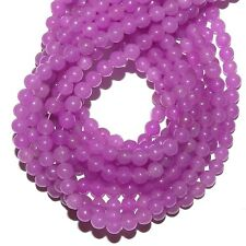 GRX1147j 10-Strands Purple-Pink Fuchsia Candy Jade 4mm Round Gemstone Beads 15""