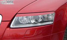RDX Scheinwerferblenden Audi A6 4F C6 -2008 Böser Blick ABS Blenden Spoiler