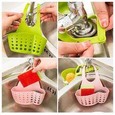 Sink Hanging Strainer Drainer Organizer Storage Sponge Cutlery Holder Kitchen