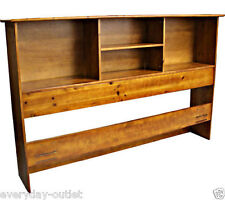 Solid Wood Bookcase Headboard Scandinavia Bedroom Furniture Dorm King Size Oak