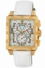 Edox Women's 01924 37R NAIR Classe Royale Chronograph Rose-Gold Leather Watch