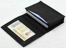 Mens BLACK Leather Bifold Student MINI Wallet/CARD HOLDER Accordion Pocket 15CC
