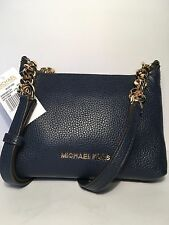 NWT Michael Kors Bedford Crossbody  Leather Bag/ Navy Blue