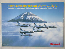 DOCUMENT 1 PAGE KAWASAKI T-4 JET TRAINER BLUE IMPULSE AEROBATICS TEAM