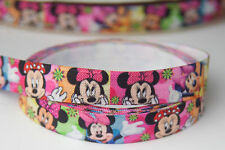 15mm FOE Elastic Stretch Ribbon Minnie Mouse Craft Hairbow bow -5YARDS