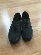 Vans Black Canvas Platform Sneakers Women's 8 GUC