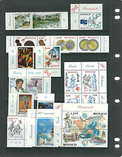 MONACO 2000-2006 25+ complete sets TOPICAL THEMES VF MNH