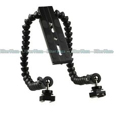 Flexible Dual/ Twin-Arm/Hot shoe Flash Bracket for CANON NIKON PENTAX MACRO SHOT