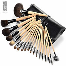 Fräulein3°8 19 Professional Wooden Makeup Brushes Set w/Case