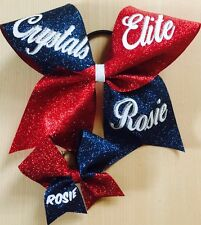 Keyring + CHEER BOW CHEERLEADING  + Any   NAME 15 Colours To Choose From