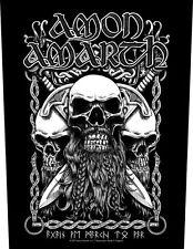 AMON AMARTH - Rückenaufnäher Backpatch - Bearded skull