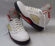 "Mens Nike AIR JORDAN 5 RETRO Fire Red White ""2013 Release"" Shoes Size 12"