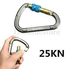 25KN Carabiner Screw Gate Hook Karabiner Lock Locking Carabina for Rock Climbing