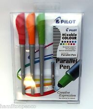 PILOT PARALLEL PEN - set of 3 pens with ink cartridges