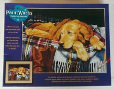 """Dimensions Crafts Paint Works Paint by Number Kit Loyal Friend 14"""" X 11"""" Puppy"""