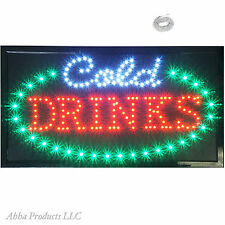 Cold Drinks Beer Ice Bar Pub Restaurant Open Business Store Shop LED Sign neon