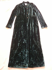 Sara Sturgeon 1970s vintage style green velvet coat Made in England Size 3 UK 12
