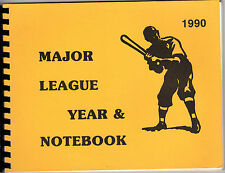 1990 Major League Year & Notebook; Player Reference Manual by Baseball Blue Book