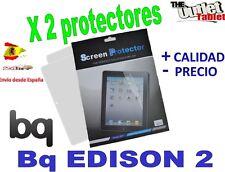 Pack 2 Protectores de pantalla para bq Edison 2 ,  Edison 2 3G Fnac 10 Blister