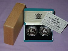 1992 SILVER PROOF TEN PENCE TWO COIN SET - Full Packaging