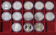 Full series 13 Bulgarian coins 2 levs 1981 Jubilee 1300 years Bulgaria, Proof
