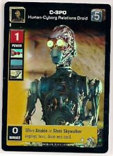 Star Wars Young Jedi CCG Reflections FOIL #3 C-3PO, Human-Cyborg Relations Droid