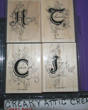 STAMPIN UP ILLUMINATIONS 4 RUBBER STAMPS JOY CHERISH HOPE THANKS