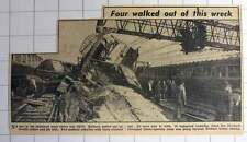1953 Train Wreck Bethnal Green Station 10 Coaches Liverpool Street To Ipswich