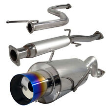 """Acura Integra RS/GS Stainless Rear 4"""" Burn Tip Cat Back Exhaust System Bolt On"""