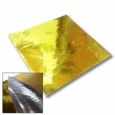 "1X METALLIC GOLD HEAT BLOCK REFLECTOR REFLECTIVE BARRIER SHEET WRAP TAPE 20""X20"""