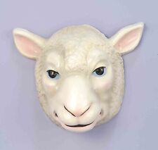 Sheep Mask Plastic Front Face Mask Child to Adult Size Animal Mask
