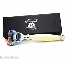 GILLETTE FUSION IVORY COLOR HARYALI LONDON MEN CARTRIDGE RAZOR GIFT