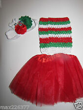 NEW  Baby winter 0-24 MONTHS  Christmas tutu top & headband