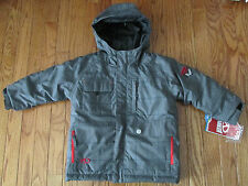 "NWT Marker Boys Size 4 Gray Plaid ""Duke"" Waterproof Winter Snowboard/Ski Jacket"