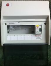 WYLEX 8 WAY INSULATED CONSUMER UNIT 100 AMP 100mA RCD BRAND NEW IN BOX NHRM804