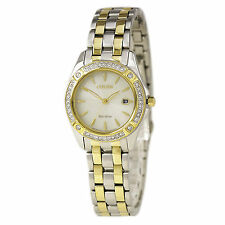 Citizen Eco-Drive Women's EW2354-53P Silhouette Crystal Accents Two-Tone Watch