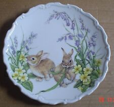 Royal Albert Rabbit Collectors Plate SPRING CAPERS 1987