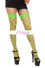 ML-4542 Sexy Green Multi Fence Net Thigh High Stocking Raver Rave Gogo Dancer
