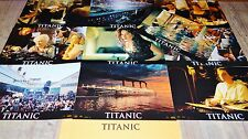 TITANIC ! dicaprio j cameron RARE jeu 10 photos cinema lobby cards fantastique