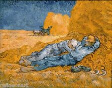 Noon, rest from work by Vincent Van Gogh Giclee Print Repro on Canvas