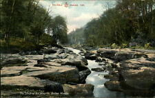 Bolton England ~1910/20 The Strid on the Wharfe at Bolton Woods Fluss Waterfall